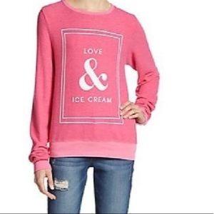 Wildfox Love & Ice Cream pink sweatshirt XS